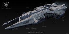 SpaceShip, Maxime BiBi on ArtStation at https://www.artstation.com/artwork/YW91K