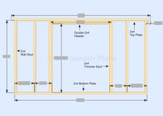 Gambrel-Barn Shed Plans Front Wall Frame