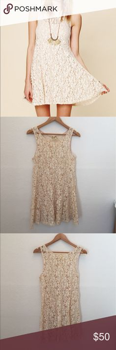 "Free people miles of lace dress Style: 23471642   Gorgeous all over sheer lace dress.  70% Cotton, 30 % Nylon  Machine Wash Cold *Import  Measurements for Size Small: Length: 33"" Bust: 34"" Waist: 36"" Sleeve Length (from shoulder): 15 ? Free People Dresses"