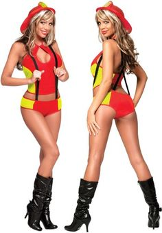 Sexy fire woman costumes