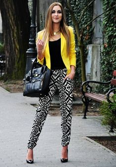 I think I could rock a pair of patterned pants