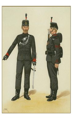 The 60th Rfles . King's Royal Rifle Corps. 1875 By P.W.Reynolds www.uniformolgy.com