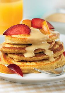 Sweet Potato Pancakes with maple butter
