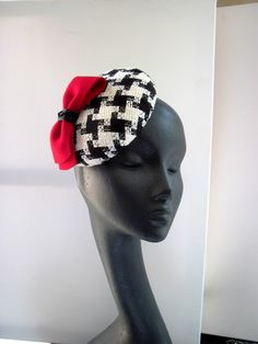 Houndstooth Cocktail Hat MIND YOUR BONCE #Millinery #hats #HatAcademy