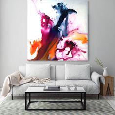 Original resin painting on canvas by artist Jessica Skye Baker 'Queen Pop' 100x100cm