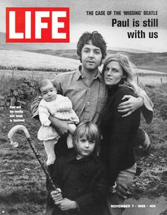 "November 7, 1969: The Case of the ""Missing"" Beatle.  LIFE was the first magazine to interview Paul during the rumors of his death. See more: http://ti.me/H5wso1"