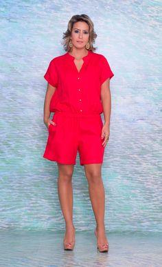 Macaquinho de Linho: Talento Moda Plus Size