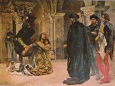 """""""Drama de Inês de Castro"""" (c. 1901-04), por Columbano Bordalo Pinheiro, no Museu Militar de Lisboa."""
