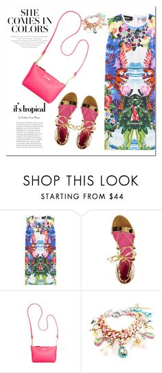 """Floral & Tropical Too"" by adduncan ❤ liked on Polyvore featuring Dsquared2, Oscar Tiye, Calvin Klein, floral, tropical, bright and summer2016"