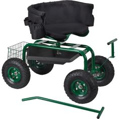 Deluxe Rolling Garden Seat with Easy Change Turnbars   Yard Carts Wheelbarrows  Northern Tool + Equipment