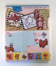 janetstore.com: kawaii stationery,letter sets, stickers, gifts and more - Kamio Bear's Doodling letter set 4991277029862