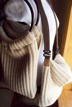 laukku neulepaidasta