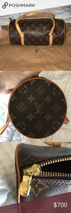 Authentic Louis Vuitton Papillon 26 Monogram Bag Classic LV Papillon monogram bag. 100% authentic - purchased at the LV store in Boston. Very good condition. Minor scratches on the gold hardware / tiny blue mark on the inside of the strap handle. No trades. Comes with dust bag. Louis Vuitton Bags