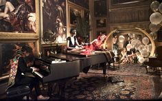 """""""Gatsby kept some of the rooms the same as the original,"""" production designer Martin said. """"This would be an Old Masters room, where the wealthy would hang their finest artwork."""" Just add flappers, balloons and glitter."""