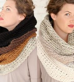 Crochet Patterns Cowl Exclusive Ombre Crochet Cowl Scarf by Victory Garden Yarn on Scoutmob Crochet Wool, Crochet Cross, Crochet Scarves, Crochet Shawl, Free Crochet, Cowl Scarf, Cowl Neck, Victory Garden, Crochet Projects