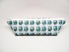 Adventure Time BMO Pencil Case  Triangle Zipper Pouch  by 162PENS, $18.00