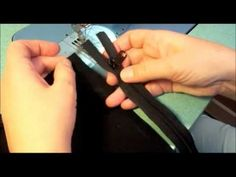 ▶ How to Professionally Insert a Zippered Pocket into Your Handcrafted Designer Handbag - YouTube