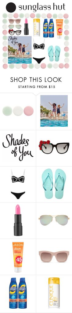 """""""Shades of You"""" by da-best78 ❤ liked on Polyvore featuring Nails Inc., Anna-Karin Karlsson, South Beach, Havaianas, too cool for school, Tiffany & Co., STELLA McCARTNEY, Coppertone, Clinique and shadesofyou"""