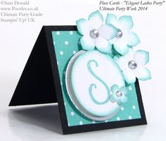 POOTLES Stampin Up UK Ultimate Party Week.  Place Card. ELEGANT LADIES THEME