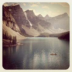Canoeing in the Rockies.