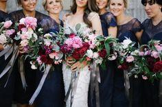 navy blue bridesmaid