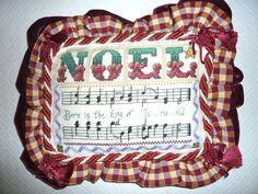 Cojín de Noel partituras