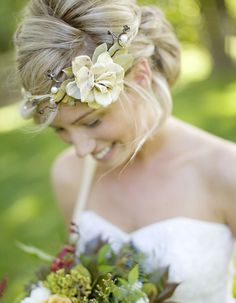 I actually think the headband is beautiful and a really cute idea for a wedding :)