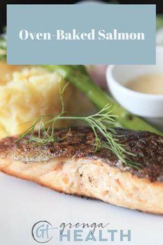 baked salmon recipe, healthy salmon recipe, healthy fish recipes, healthy dinner ideas, healthy dinner recipes, easy dinner recipes via /grengahealth/