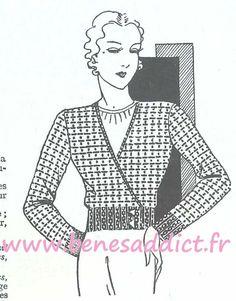 Crochet-Tricot 36 SUPERBES patrons/modèles GRATUITS de 1934!