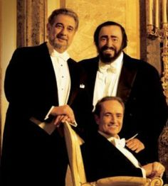 The Three Tenors - Placido Domingo, Luciano Pavarotti and Jose Carreras were popular during the 1990s and early 2000s.