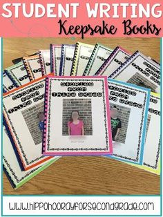Keep your students' published writing pieces from throughout the year and bind them into a finished book. It will be a great keepsake for your kiddos to remember the year they spent with you. Blog post includes a freebie table of contents, dedication page