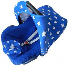 maxi cosi kap zonnekap kobalt blauw sterren kapje hoes hoesje zomerhoes zomer badstof bekleding car seat cover ersatz bezug babyschale summerbezug sun hood sonnendach blau blue
