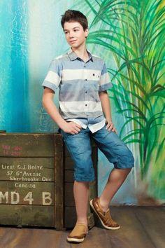 Chamise à rayures et capri #mode #modechoc #fashionkids #boys #style #summer #spring