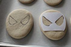 Spiderman Cookie Stencil.... Westin's birthday cookies!!!