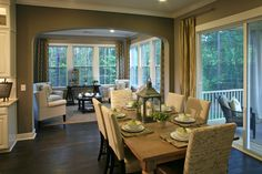 a model home done with all Bassett furnishings