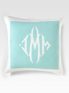 Cashmere Monogrammed Pillow