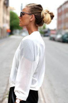 Frida Grahn with Transparent Bomber Jacket from Chiquelle.com