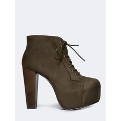 Speed Limit 98 Lace Up Chunky Bootie ($35) ❤ liked on Polyvore featuring shoes, boots, ankle booties, ankle boots, green, green boots, platform boots, platform ankle boots and lace up platform bootie