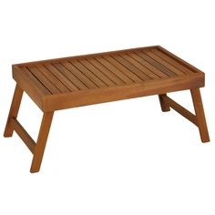 Bare Decor Coco Breakfast in Bed Solid Teak Wood Serving Tray Table/Laptop Stand (Teak Tray Table), Brown Serving Tray Wood, Wood Tray, Teak Wood, Laptop Tray Table, Bed Tray Table, Foldable Table, 3d Laser, Wood Slats, Breakfast In Bed