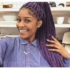 Purple Box Braids
