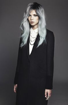 Dark tones looking far more chic than London's grey skies this morning! Photographed by Paul Morel
