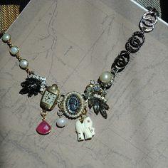 Vintage Earrings Cameo Pendant Ivory Color by CarolEllenOriginals
