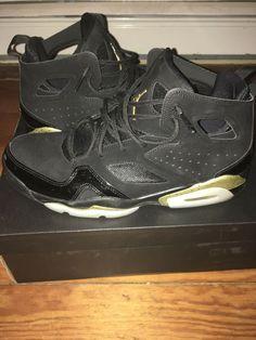 hot sale online 0fd3a 71f46 Jordan Flight Club 91 Mens Size 9.5 Black Metallic Gold White Shoes  Basketball  fashion