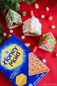 Put a spin on the Christmas tradition of making gingerbread houses. Make mini graham cracker houses instead. They're fun, snackable, and easy for kids! Christmas Snacks, Christmas Activities, Christmas Crafts For Kids, Christmas Traditions, Christmas Time, Christmas Cookies, Preschool Christmas, Christmas Parties, Winter Activities