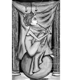 Tarot Card Art Print of The Justice Card  8x10 Print by treetalker, $18.00