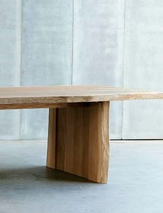 Contemporary solid wood table 'Altar' by Heerenhuis Manufactuur.