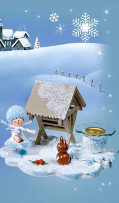 Schneeflöckchen mit Futtergrippe 43033