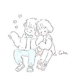 Cute Art Styles, Cartoon Art Styles, Couple Illustration, Illustration Art, Cute Love Memes, Doodle Icon, Art Prompts, Anime Child, Cute Kawaii Drawings