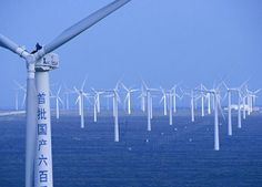 China builds world's largest wind farm at sea