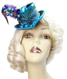 Butterfly Garden Mini Blue Victorian Steampunk by JenkittysCloset